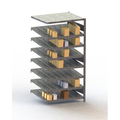 "CLIP S3 Gravity Fed Rack 14 St Seven Shelf Shelving Unit Add-on Size: 79"" H x 39"" W x 20"" D"