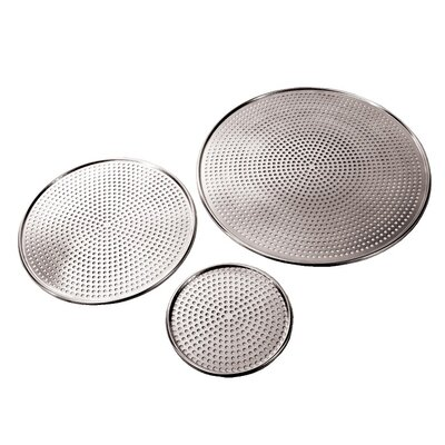 "Alum Perforated Pizza Pan Size: 0.2"" H x 18.5"" W x 18.5"" D"