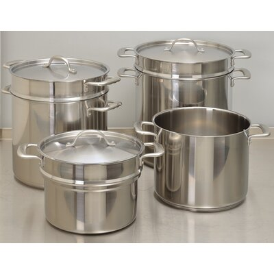 Double Boiler Stock Pot with Lid Capacity: 10 qt.