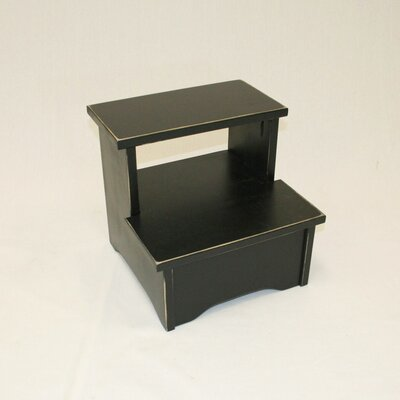 Charndon Handcrafted Solid Wood Bed Stool Color: Black
