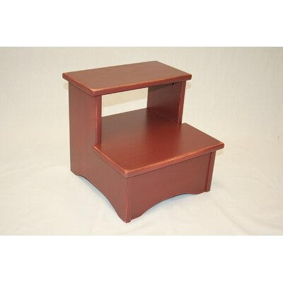Charndon Handcrafted Solid Wood Bed Stool Color: Brick Red