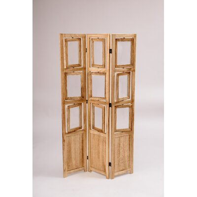 3 Panel Room Divider Color: Natural Oiled