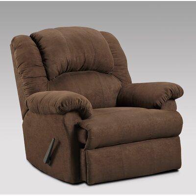 Aruba Manual Rocker Recliner Upholstery: Chocolate