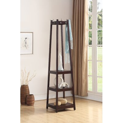 Clark Storage Shelve Coat Rack Finish: Espresso