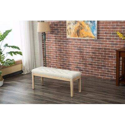 Hillcroft Wood Bench Color: Tan
