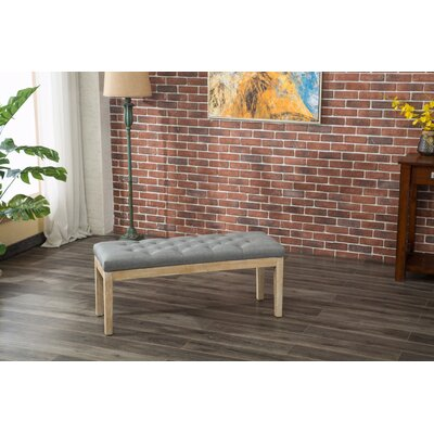 Hillcroft Wood Bench Color: Gray