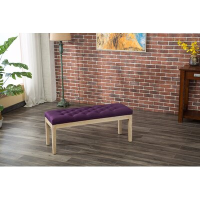 Hillcroft Wood Bench Color: Purple