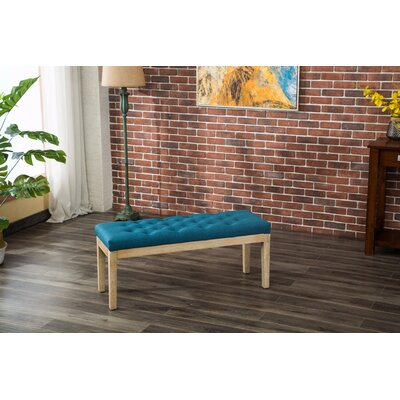 Hillcroft Wood Bench Color: Blue