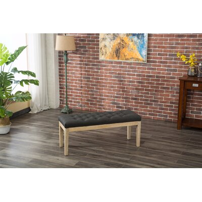 Hillcroft Wood Bench Color: Charcoal