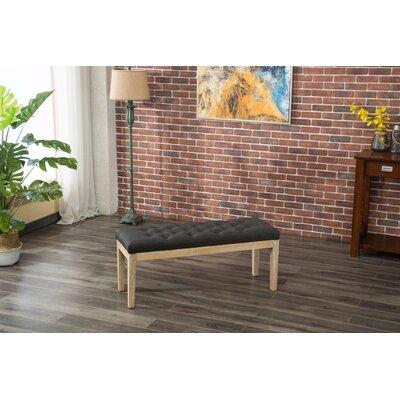 Hillcroft Wood Bench Color: Charcoal