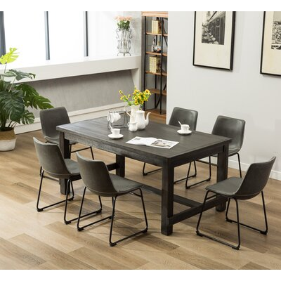 Bamey 7 Piece Dining Set Color: Gray