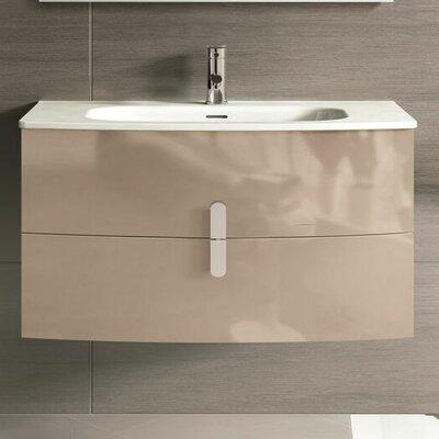 "Cali 39"" Single Bathroom Vanity Set Base Finish: Brown"
