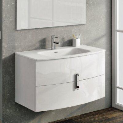 """Cali 39"""" Single Bathroom Vanity Set Base Finish: White"""