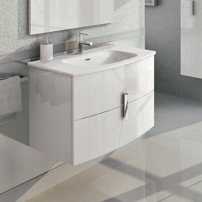 """Cali 31"""" Single Bathroom Vanity Set Base Finish: White"""