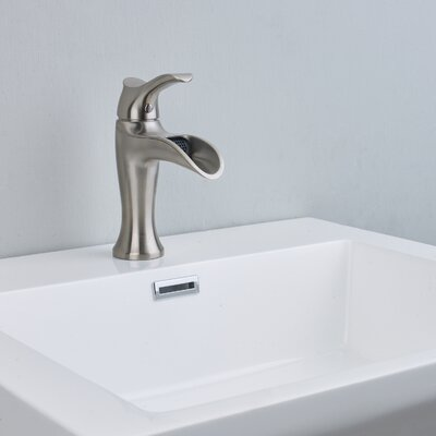 Swan Single hole Bathroom Faucet Finish: Brushed Nickel