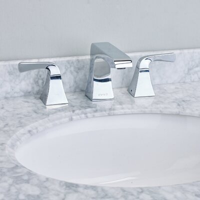 Butterfly Deck Mount Widespread Bathroom Faucet Finish: Chrome