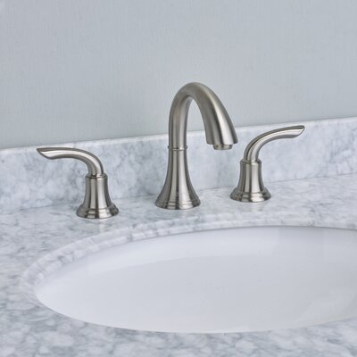 Friendy Deck Mount Widespread Bathroom Faucet Finish: Brushed Nickel