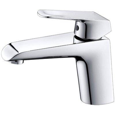 Lotus Single Hole Bathroom Faucet with Drain Assembly Finish: Chrome
