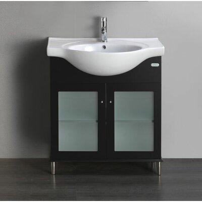 "Tux 24"" Single Bathroom Vanity Set Base Finish: Espresso"