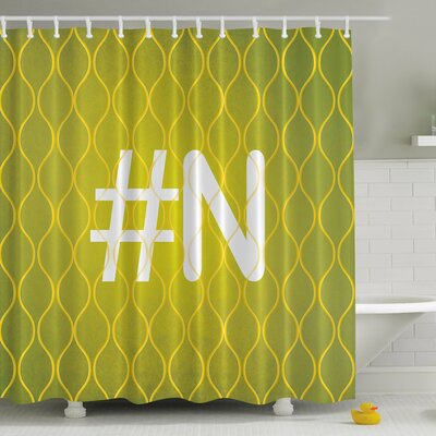 #Your Letter Print Shower Curtain