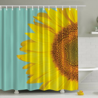 Sunflower Naked Print Shower Curtain