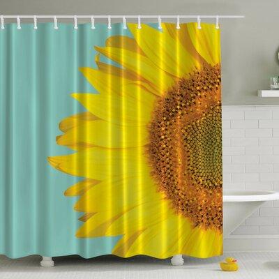 Sunflower Naked Print Shower Curtain