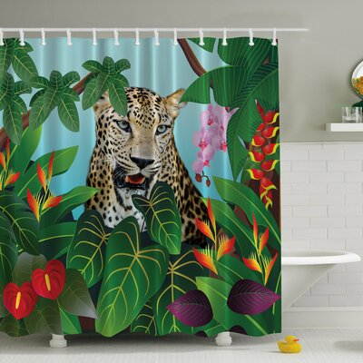 Leopard Uninterrupted Print Shower Curtain