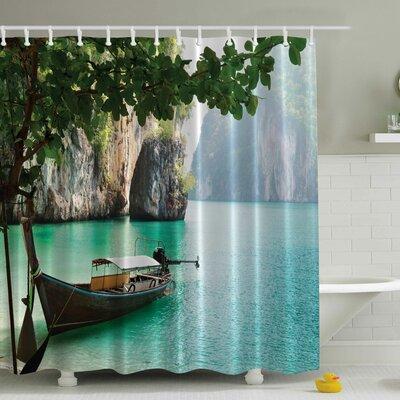 Wood Sandal Print Shower Curtain