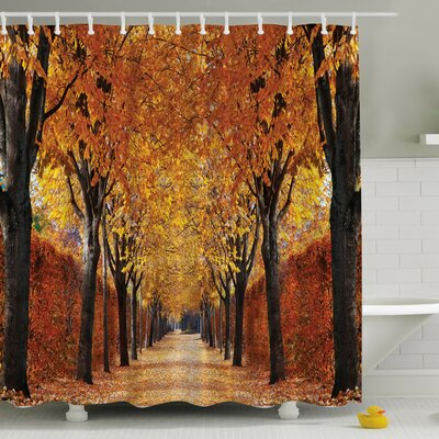 Fall Perspective Print Shower Curtain