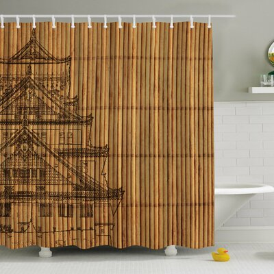 Japanese Reed Print Shower Curtain