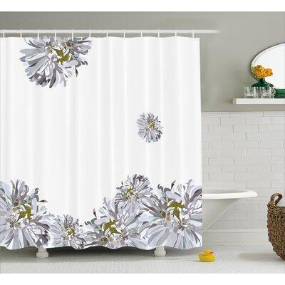 """Flourishing Summer Fusion Poppy Chamomile Purity Icons of Habitat Art Shower Curtain Set Size: 84"""" H x 69"""" W"""