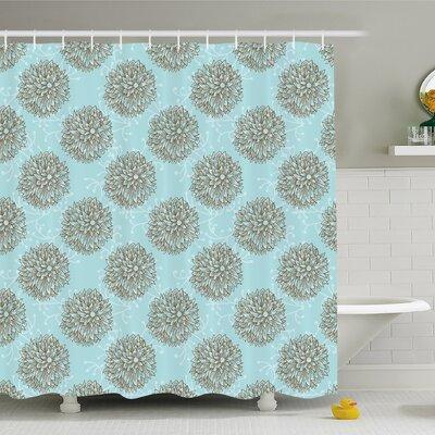 "Exotic Boho Image of Native American Hollow Stem Fresh Garden Summer Shower Curtain Set Size: 70"" H x 69"" W"
