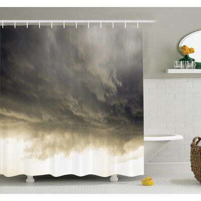 "Nature Cloudy Sky Hurricane Shower Curtain Set Size: 70"" H x 69"" W"