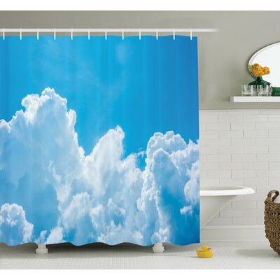 "Nature Clouds Sky Peace Heaven Shower Curtain Set Size: 75"" H x 69"" W"