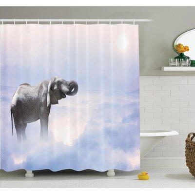 "Heaven Animal Freedom Shower Curtain Set Size: 70"" H x 69"" W"