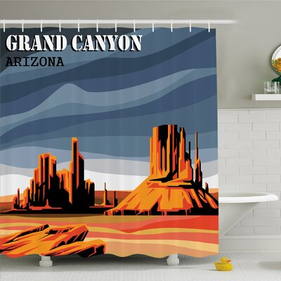 """House Major Canyon Fantastic Shadows and Contrasts with Digital Added Dimesions Shower Curtain Set Size: 84"""" H x 69"""" W"""