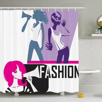"Teen Elegant Fashion Shower Curtain Set Size: 84"" H x 69"" W"