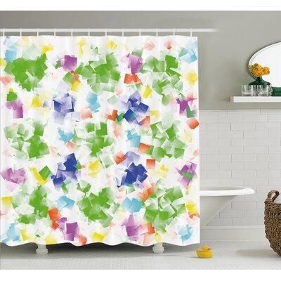 "Decorative Hallucinatory Fractal Morphing Brushstroke Diffraction Art Work Shower Curtain Set Size: 75"" H x 69"" W"
