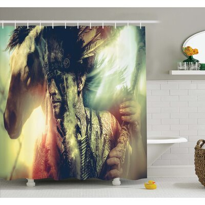 """Tattoo Angel Wings Skull and Heart full of Blood Symbol of Real Love Image Shower Curtain Set Size: 70"""" H x 69"""" W"""