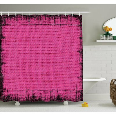 """Futuristic Design in Old Impressions Latex Grungy Murky Surface Pastel Shower Curtain Set Size: 70"""" H x 69"""" W"""