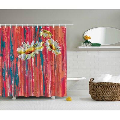 Daisies Print Shower Curtain