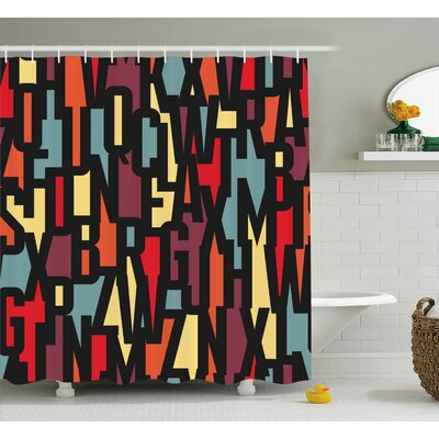 """Keasler Mega City Urban Scenery With Medieval Castle Style Skyscrapers City Illustration Shower Curtain Size: 69"""" W x 70"""" H"""