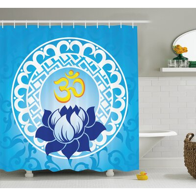 "Alayna Chakra Indian Spiritual Design With Lotus Flower Petal Mystic Powers of Nature Print Shower Curtain Size: 69"" W x 70"" H"