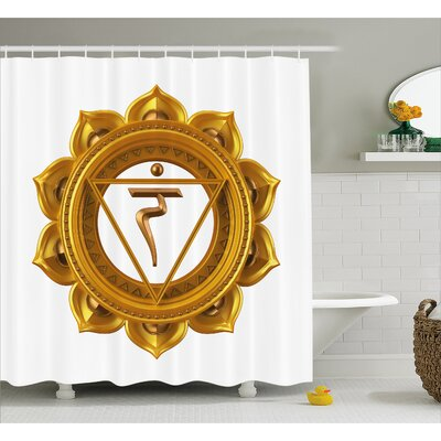 "Corrine Chakra Symbol Shower Curtain Size: 69"" W x 70"" H"