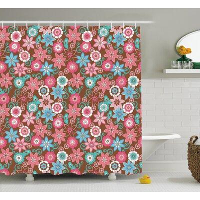 """Clark Flower Petals Florets Shower Curtain Size: 69"""" W x 70"""" L"""