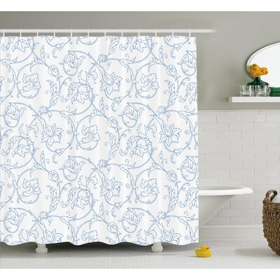 """Farthing Bohemian Vintage Orchids Shower Curtain Size: 69"""" W x 70"""" L"""