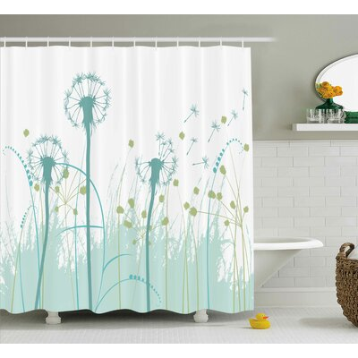 """Yasmeen Floral Botany Blooms Shower Curtain Size: 69"""" W x 70"""" L"""