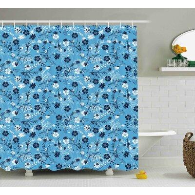 "Barton Decor Shabby Elegance Petals Shower Curtain Size: 69"" W x 70"" L"