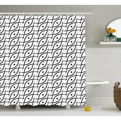 "Charlton Trippy Leaf Spots Shower Curtain Size: 69"" W x 84"" L"