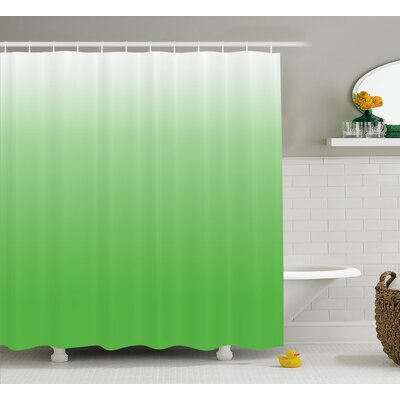 """Inspired Yellow Vivid Grass Decor Shower Curtain Size: 69"""" W x 70"""" L"""